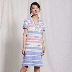 Boden Rosemary Size 8 Striped Sort Sleeve Dress